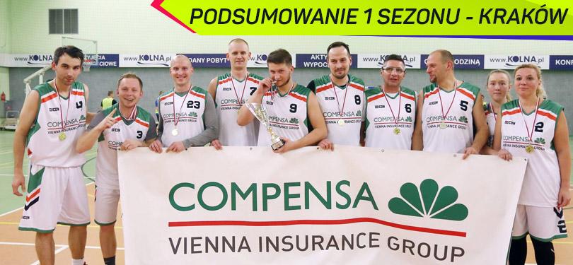 Podsumowanie 1 Sezonu Koszykarskiej Ligi Biznesu w Krakowie